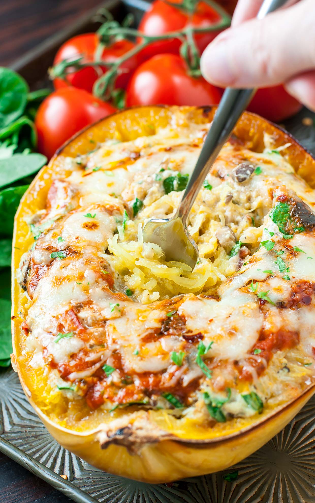 Diet Recipe for Vegetarian Spaghetti Squash Lasagna
