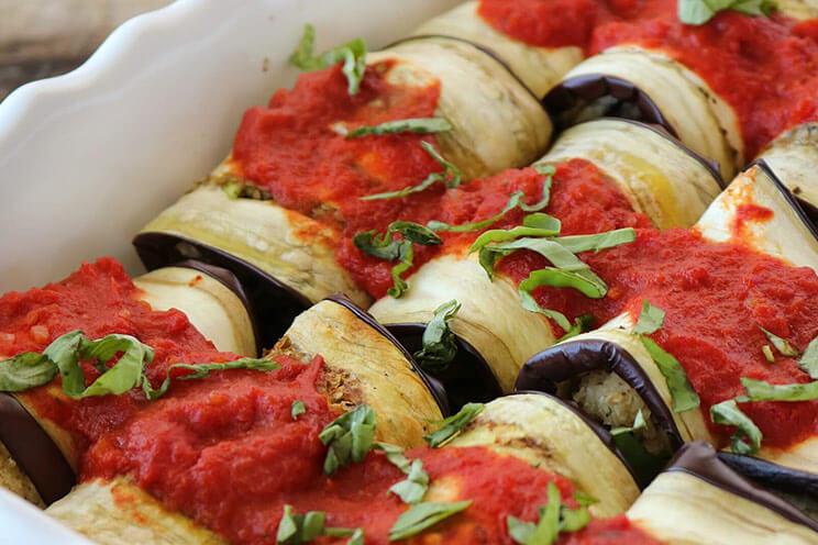 Diet Recipe of Eggplant Lasagna Rolls